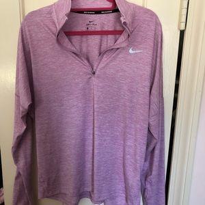 Pink 3/4 Zip Nike Dri-Fir Running Pullover